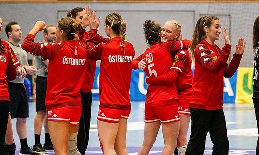 Großer Jubel bei Österreichs Handballerinnen