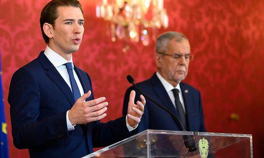 Sebastian Kurz und Alexander Van der Bellen