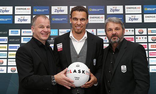 SOCCER - BL, LASK, press conference