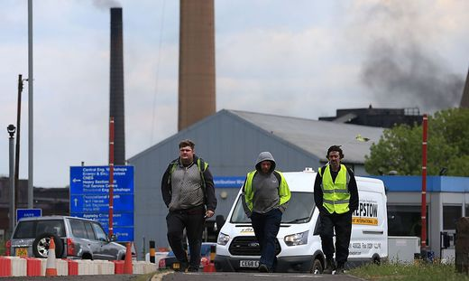 BRITAIN-POLITICS-INDUSTRY-STEEL-BRITISH STEEL-LAYOFFS