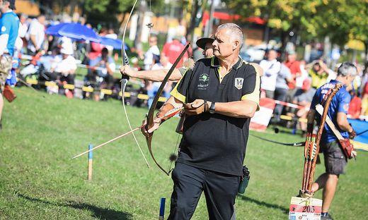 Weltmeisterschaften im 3D-Bogenschießen 2. bis 8. September 2018 Moosburg Bild: neuer Weltmeister in seiner Klasse Ernst Reicher BSC Wörthersee