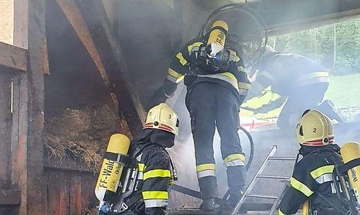 Die Feuerwehren Wald bei Stainz und Stainz sowie die Polizei und das Rote Kreuz waren im Einsatz