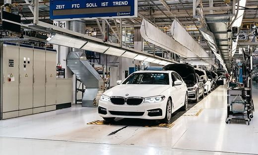 Der 5er-BMW: Eines der aktuellen Modelle, das bei Magna produziert wird