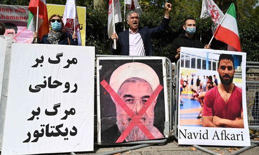 Proteste gegen die Hinrichtung von Navid Afkari