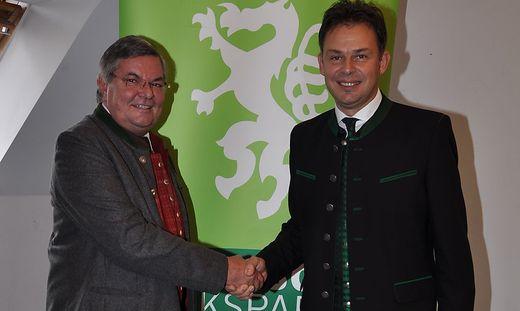 Der abgetretene Ortschef Helmut Kriegl (l.) mit seinem designierten Nachfolger Peter Neger