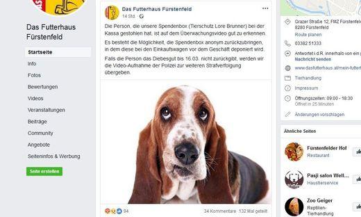 Der Beitrag der Tierhandlung auf Facebook löste zahlreiche Reaktionen von Lesern aus