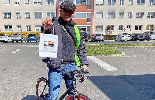 Juwelier Max Habenicht hat Schmuck persönlich mit dem Fahrrad ausgeliefert