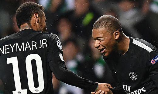 FBL-EUR-C1-CELDie Verpflichtung von Neymar kostete Paris SG 222 Millionen Euro, für Kylian Mbappe werden in einem Jahr 180 Millionen fälligTIC-PSG