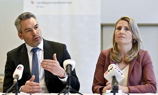 Karl Nehammer und Susanne Raab