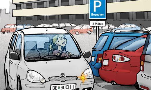 Besucherparkplätze sind oft Mangelware