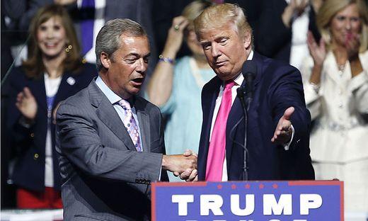 Donald Trump und Nigel Farage