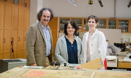 Von links: Miachael Vigl, Brigitte Futscher und Britta Schwenck vom Bundesdenkmalamt in Wien