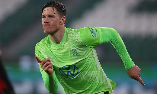 Wout Weghorst erzielte zwei Tore für Wolfsburg