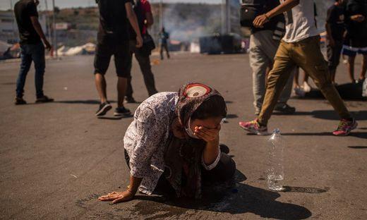 Verzweiflung auf Lesbos nach dem Brand des Lagers