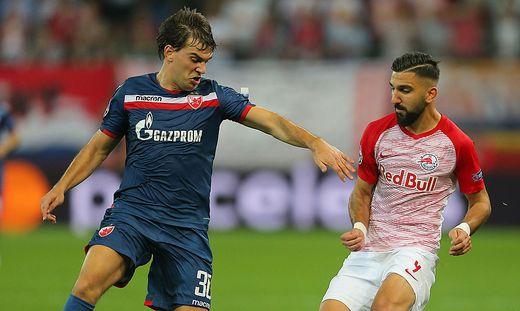 Filip Stojkovic (links) spielt für den serbischen Klub Roter Stern Belgrad.