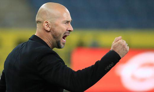 Auch Sturm-Trainer Christian Ilzer hat allen Grund zur Freude