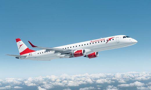 Embraer-Jet der Austrian Airlines