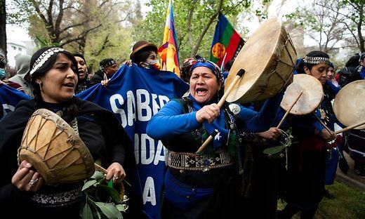 Mapuche-Protest am Sonntag in Santiago