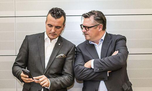 Parteichef Darmann und Klubchef Leyroutz