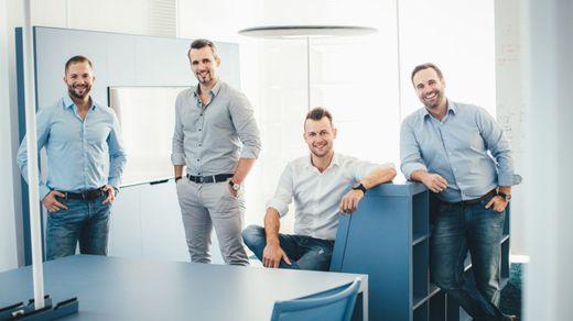 """Eröffnen im Oktober das """"360 Lab"""": Martin Trink, Felix Uitz, Dominik Renner und Christian Vancea"""