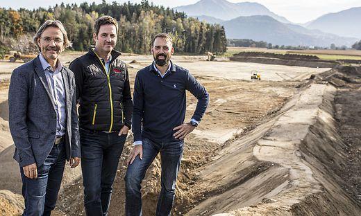 Guggenberger, Preinig und Tauschitz (von links) wollen die Baurestmassendeponie in Grafenstein im Frühjahr 2020 öffnen