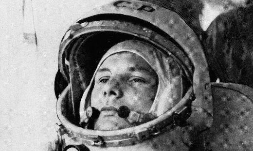 Juri Gagarin, der erste Mensch im All.