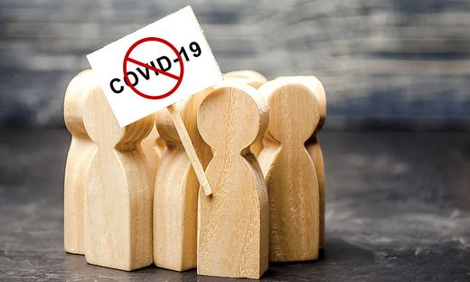 Protesting people calling to stop quarantine prohibitory measures. Exposure to dangers of coronavirus COVID-19, call resist restrictions. onspiracy theories followers. Distrust official information.