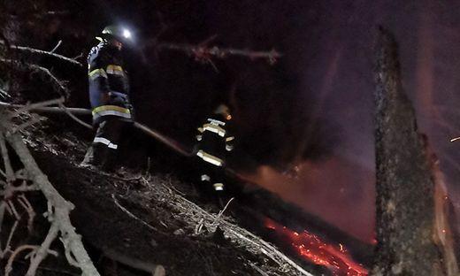 Etwa 1500 Quadratmeter waren vom Böschungsbrand betroffen