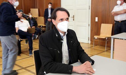 Martin Rutter bei der Verhandlung am Landesgericht Klagenfurt