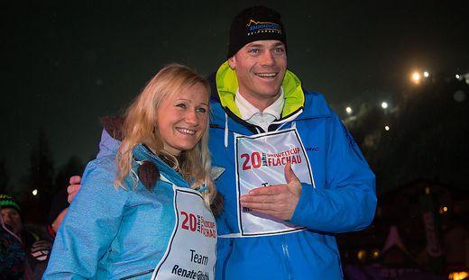 Renate Götschl und Michael Walchhofer im Jahr 2013