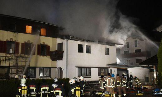 Zahlreiche Feuerwehren rückten zu dem Brand in Breitenbach aus