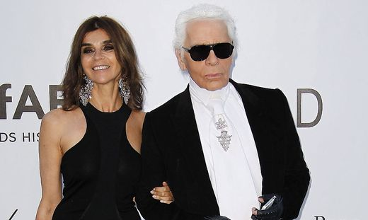 Carine Roitfeld und Karl Lagerfeld