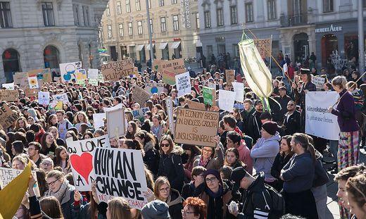 Am 18. Februar waren rund 1500 Jugendliche bei der Grazer Klima-Demo dabei