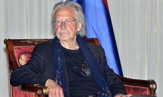 Peter Handke beim Besuch in Banja Luka
