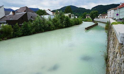 Der Göstritzbach am Dienstag