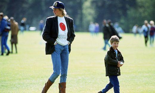 Diana mit Prince William bei einem Polo-Turnier