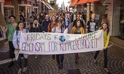 Demo Fridays For Future Klima Zukunft Klagenfurt September 2021
