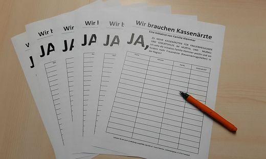 Die Unterschriftenlisten liegen bis Mitte November auf