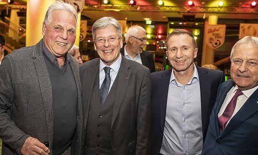 Von links: Friedl Koncilia, Peter Kaiser, Klaus Mitterdorfer, Leo Windtner