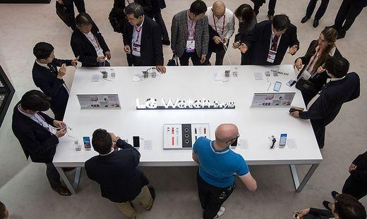 LG präsentiert in Barcelona üblicherweise neue Produkte. Hier ein Bild aus dem Jahr 2017