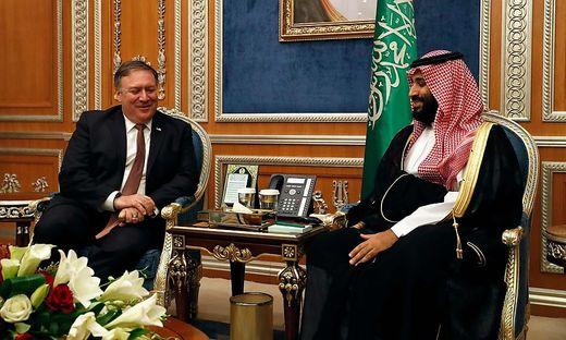 Pompeo und Kronprinz Mohammed bin Salman