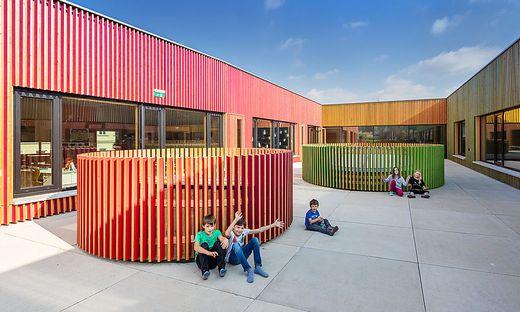 Die Volksschule Algersdorf wurde 2018 mit der Geramb-Rose ausgezeichnet