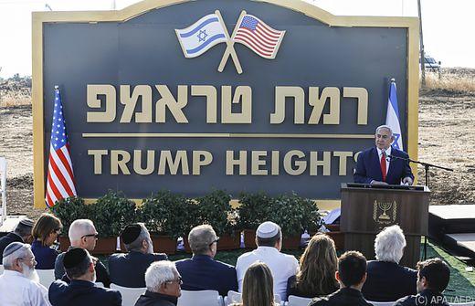 """Die neue Golan-Siedlung heißt """"Trump-Höhen"""""""