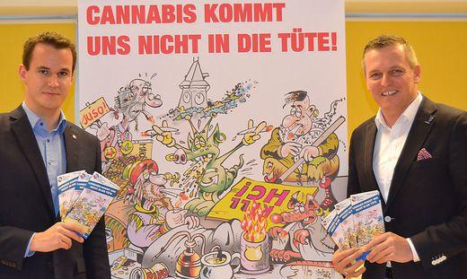 Hermann (RFJ) und Kunasek (FP) starten Kampagne.
