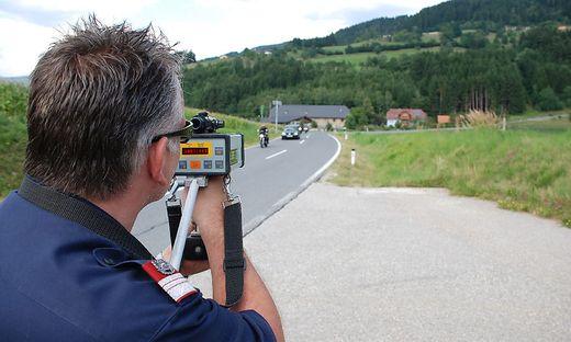 Geschwindigkeitsmessungen werden regelmäßig durchgeführt