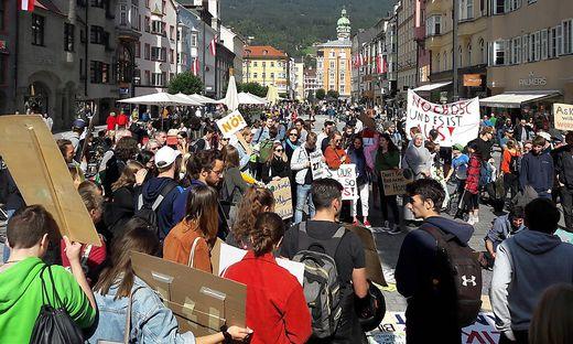 Klimademo in Innsbruck