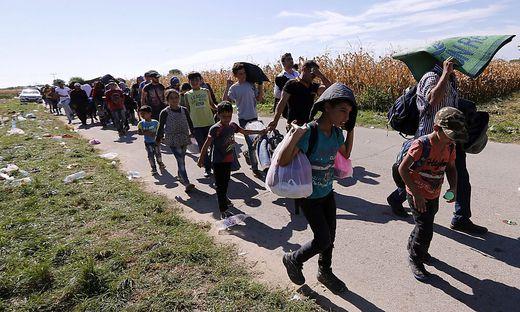 Zu Tausenden strömen Flüchtlinge über die Grenzen nach Österreich.