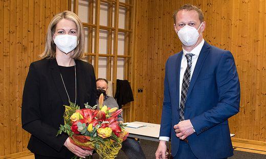vizebürgermeisterin Sommer und Bürgermeister
