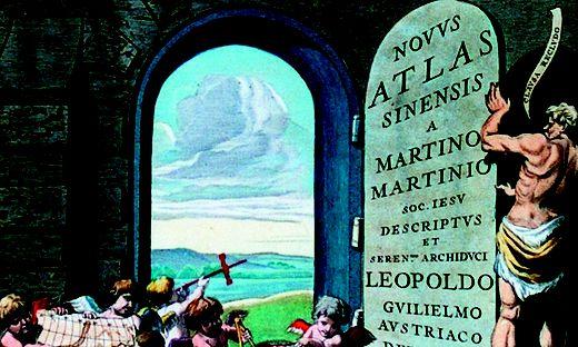 """Der Jesuit Martin Martini veröffentlichte 1655 den """"Atlas Sinensis"""" – anhand seines Kartenmaterials orientierte sich auch der Grazer Jesuit Christian Wolfgang Haerdtrich"""