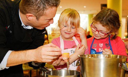 Kinder und Köche waren mit Freude bei der Sache